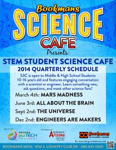 STEM Student Science cafe starts at 6:30 PM.